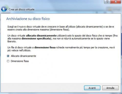 virtual box6crea disco allocazione dinamica.JPG