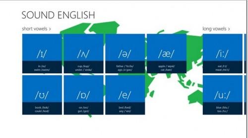 pronuncia inglese,english sound, applicazioni windows 8