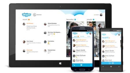 Skype 4.5 su tablet android più funzionalità