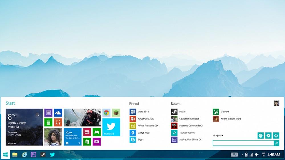 Windows 8.2 potrebbe introdurre un menu classico modificato metro ui