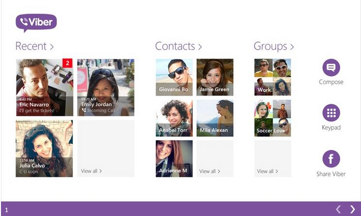 Viber rilasciato per windows 8.1 scarica dallo store ufficiale