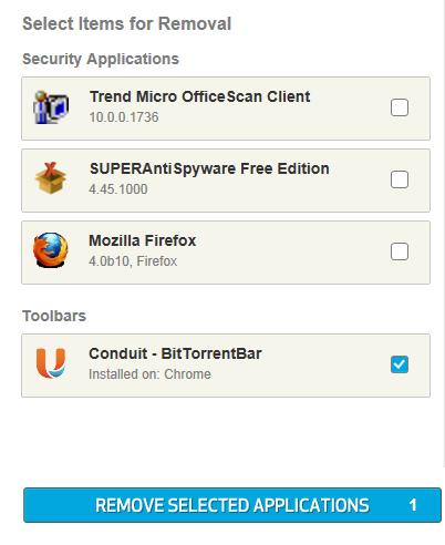 app remover elenco