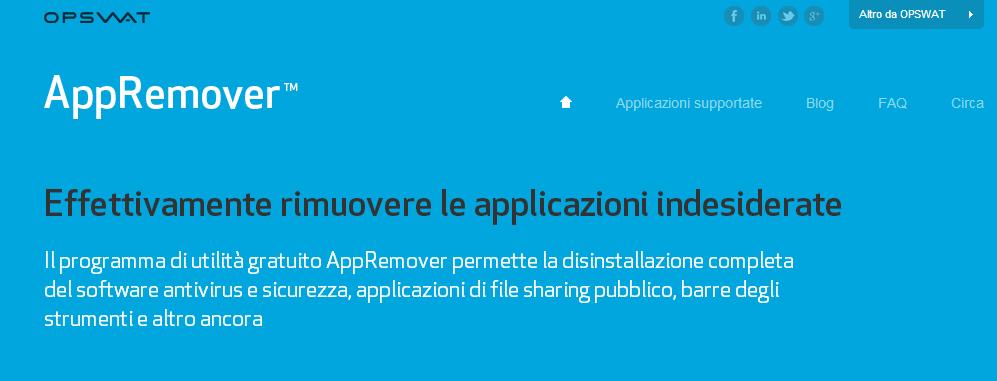 appremover rimuovere barre app