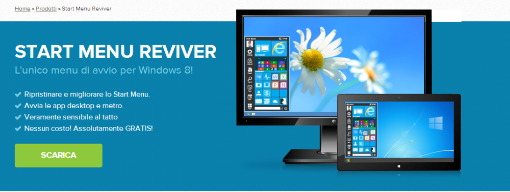 start menu reviver per windows 8.1