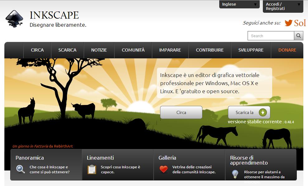 Installare Inkscape Programma Open Source Editor Grafica