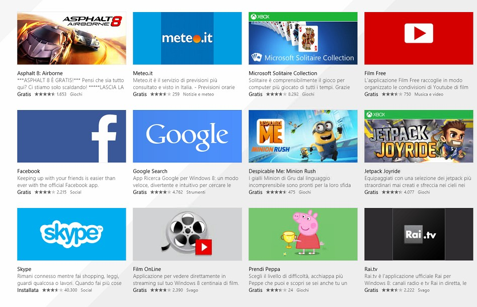 migliori 10 apps gratis