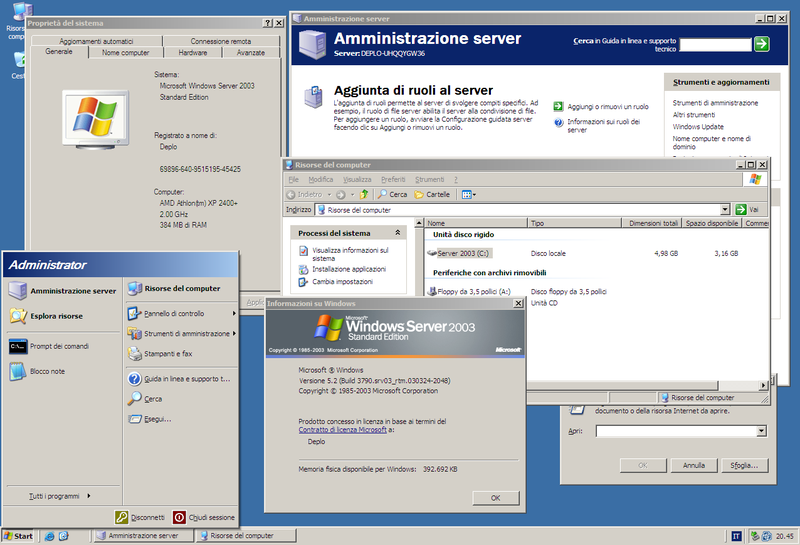 wndows server 2003
