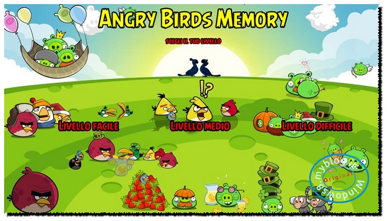 angry birds memory1
