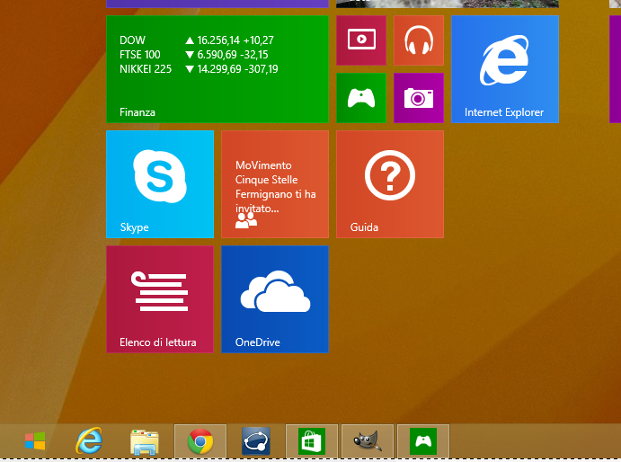 barra start in windows 8.1 update 1