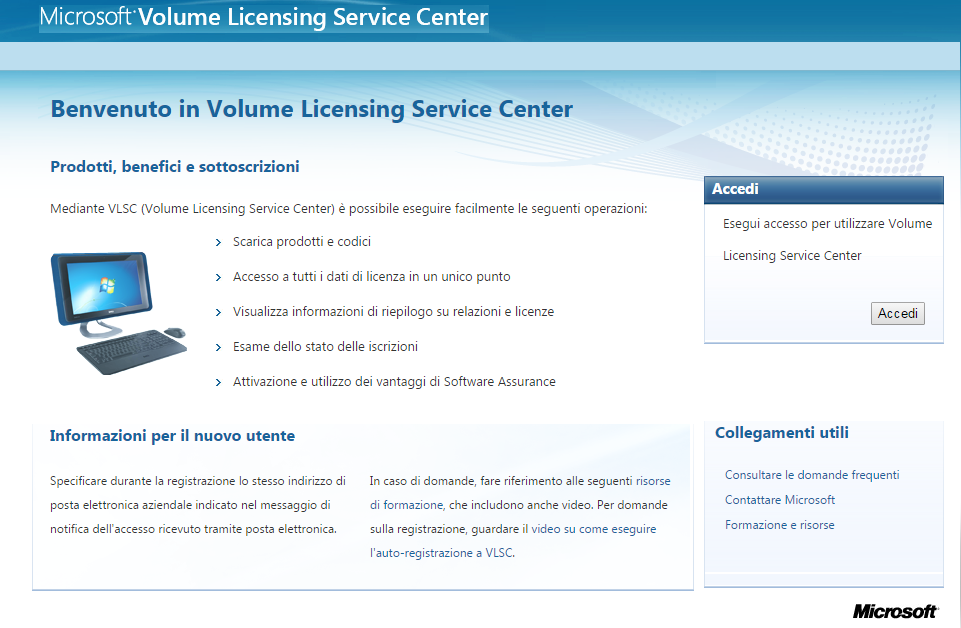 Windows 10 volume licensing service center