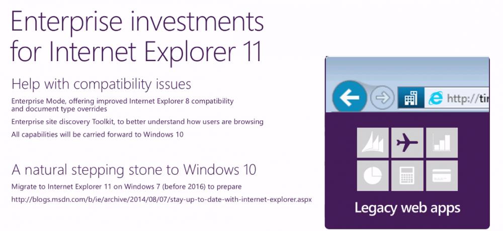 Obbligo di aggiornare versione internet explorer a Internet explorer 11 entro il 12 Gennaio 2016