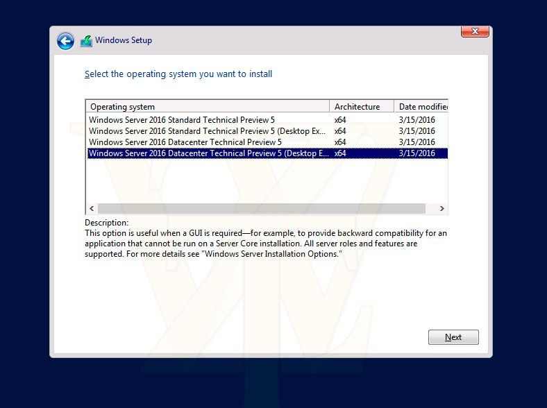 windows server 2016 technical preview  5-1