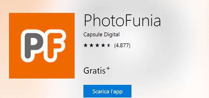 Download app PhotoFunia la più votata per dispositivi windows 10