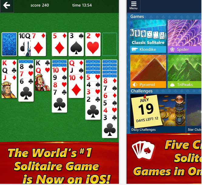 Microsoft solitaire adesso disponibile anche per Android e Apple iOS, download
